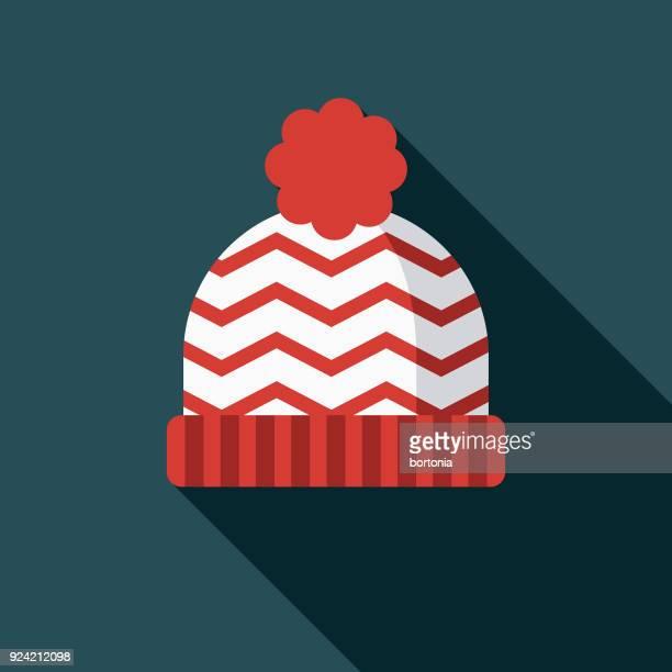 トーク フラット デザイン カナダ アイコン側の影 - ニット帽点のイラスト素材/クリップアート素材/マンガ素材/アイコン素材