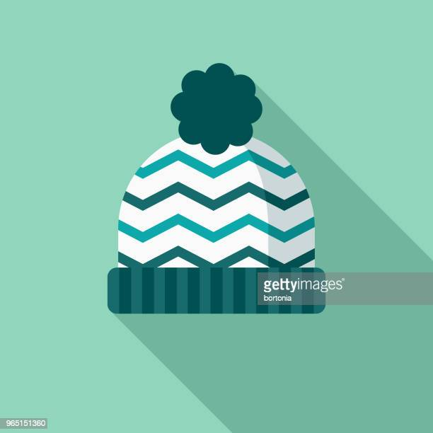 Toque Flat Design Winter Icon with Side Shadow
