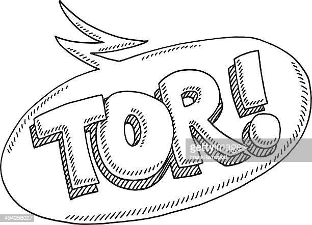 Tor! Deutsche Text Sprechblase Zeichnung