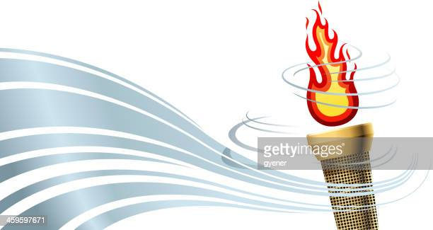 torch background - sport torch stock illustrations, clip art, cartoons, & icons