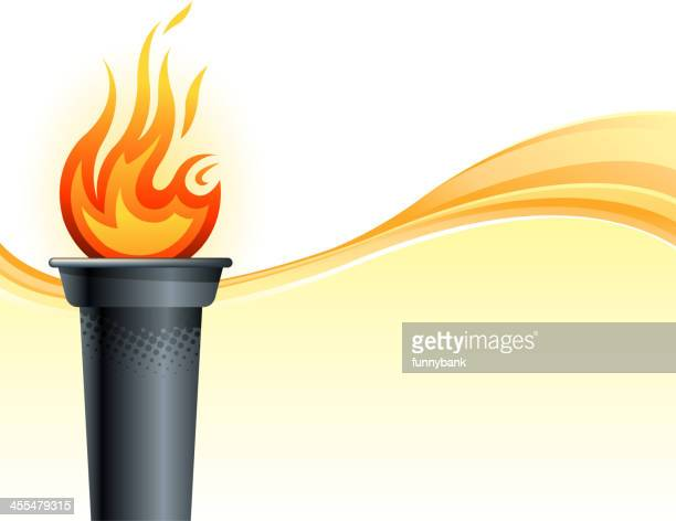 . torch backround - sport torch stock illustrations, clip art, cartoons, & icons