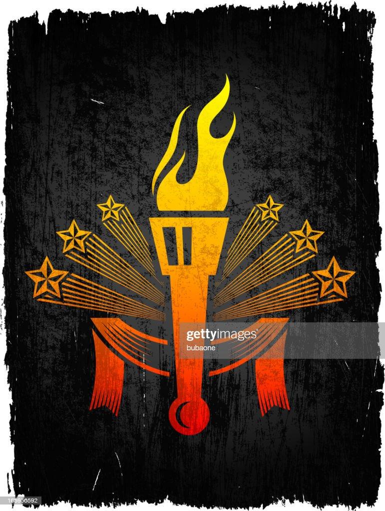Tocha Escudo em fundo de vetor royalty free : Ilustração