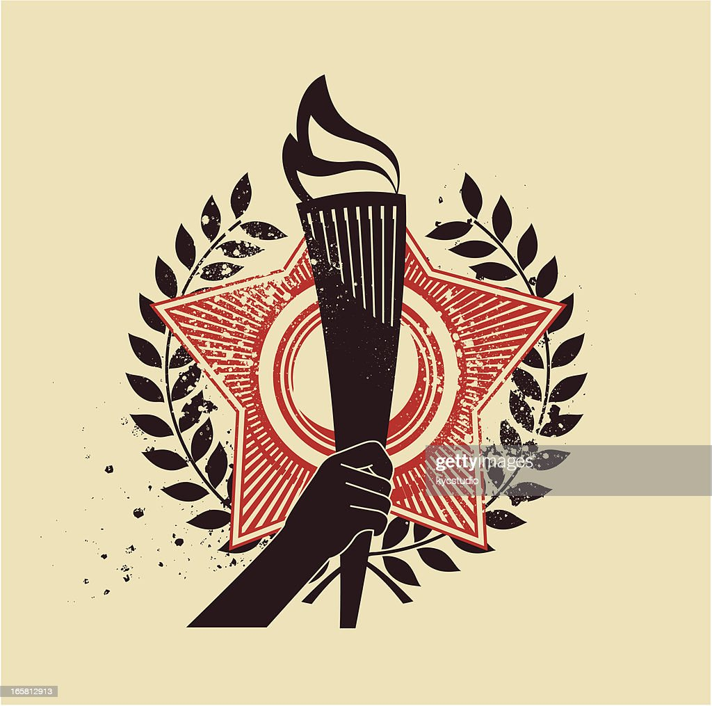 Torch emblem : stock illustration