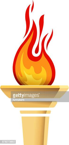 torch icons - sport torch stock illustrations, clip art, cartoons, & icons
