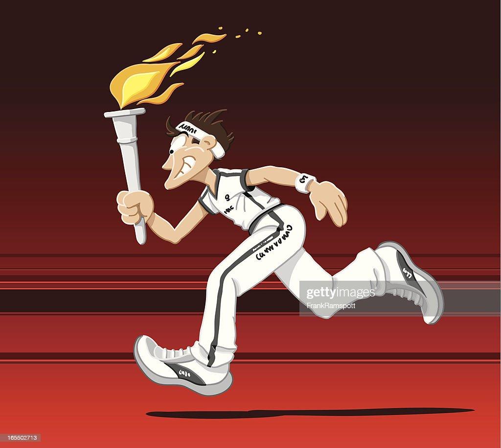 Torch Runner : stock illustration