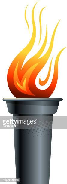 . torch - sport torch stock illustrations, clip art, cartoons, & icons