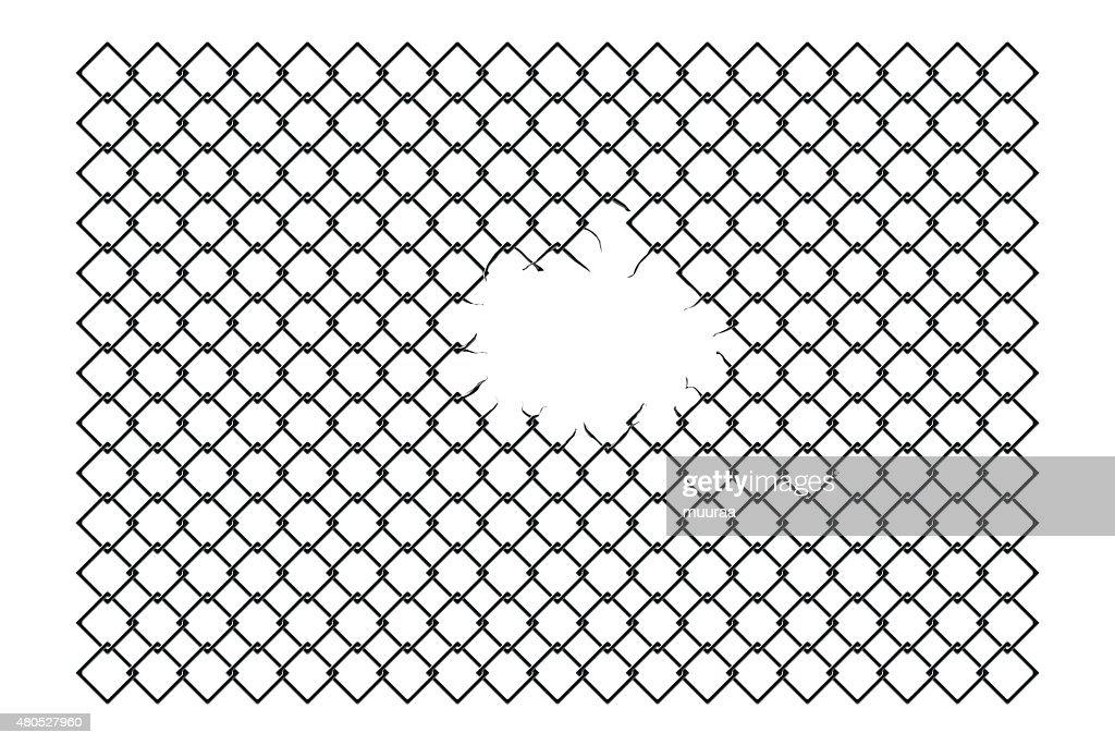 torn fence : Vectorkunst