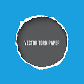 Torn paper frame vector template