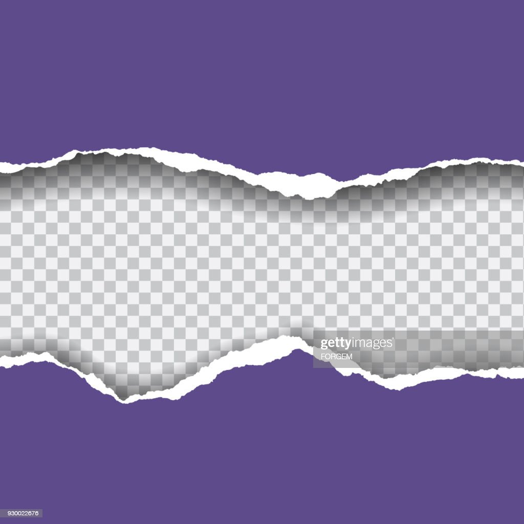 Torn paper with space for text - isolated vector on transparent background