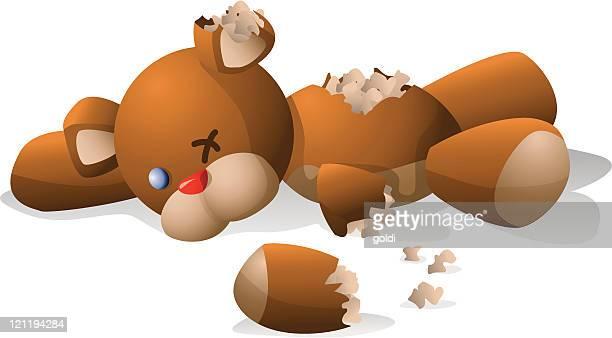 ilustraciones, imágenes clip art, dibujos animados e iconos de stock de rasgado osito de peluche - osito de peluche