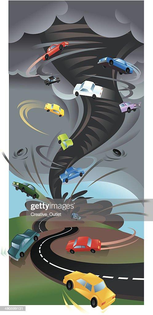 Tornado Cars C : Vector Art