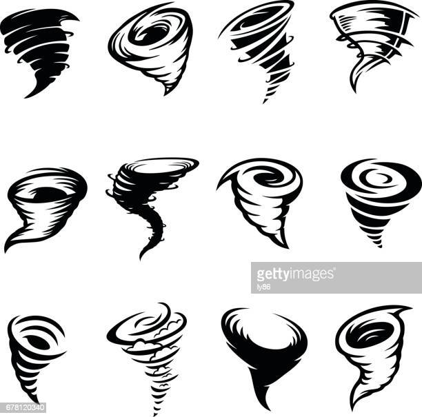 tornado designs - hurricane stock illustrations, clip art, cartoons, & icons