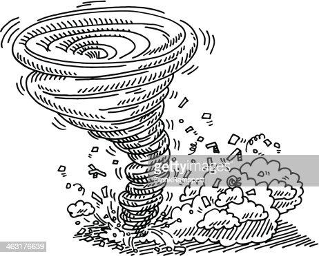 Tornado Natural Disaster Drawing Vector Art Getty Images