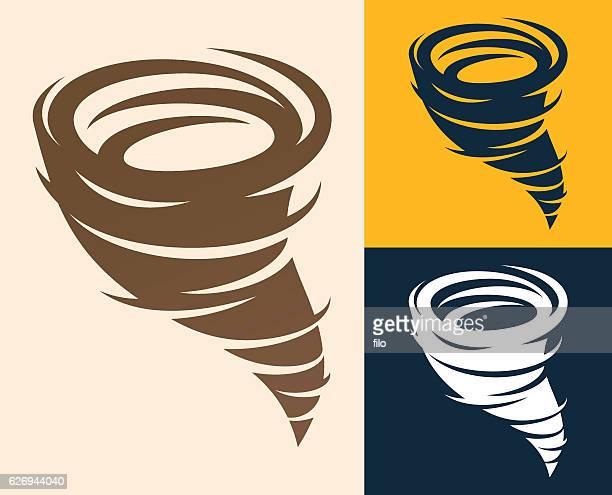 tornado symbol - hurricane stock illustrations, clip art, cartoons, & icons