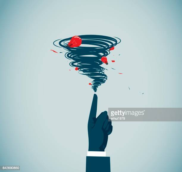 tornado - hurricane stock illustrations, clip art, cartoons, & icons