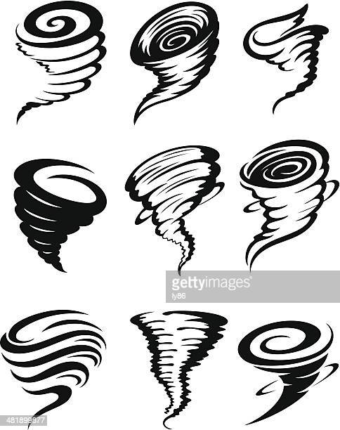 tornados - twisted stock illustrations, clip art, cartoons, & icons