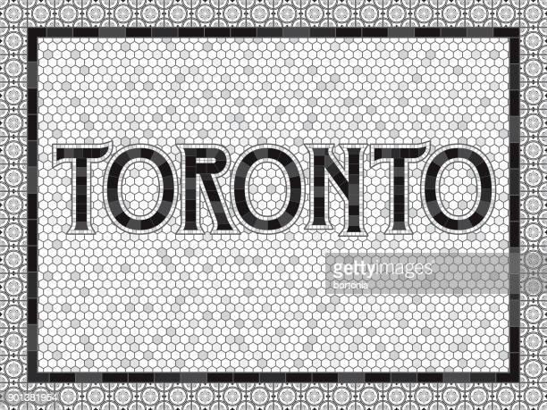 Toronto alte altmodische Mosaik Fliesen Typografie