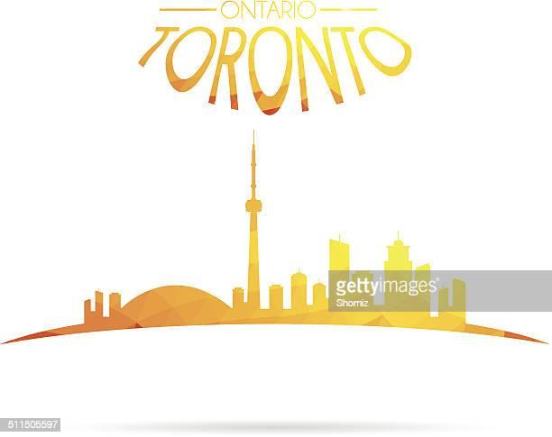 Toronto, Ontario, Kanada-skyline silhouette