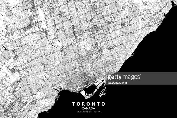 toronto, ontario, canada vector map - toronto stock illustrations
