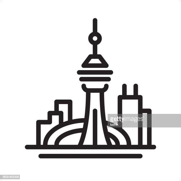 Toronto Skyline - Übersicht-Symbol - perfekte Pixel