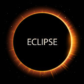 Total eclipse of the sun background, vector illustration