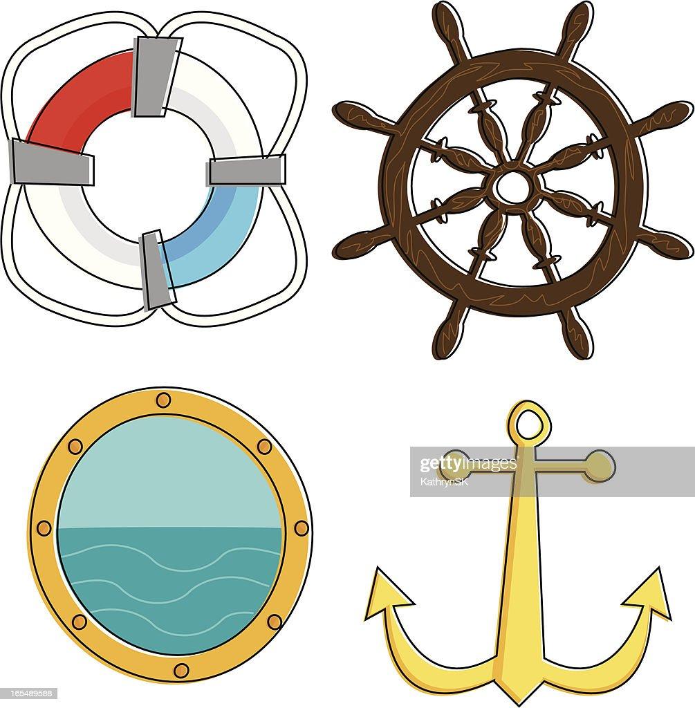 Totalmente náuticas. : Ilustración de stock