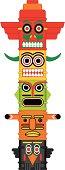 Totem pole Indian Vector illustration