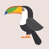 Toucan Bird Flat Icon