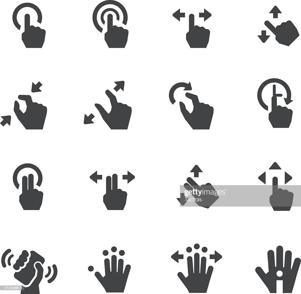 Touch Gesture Icons - Acme Series