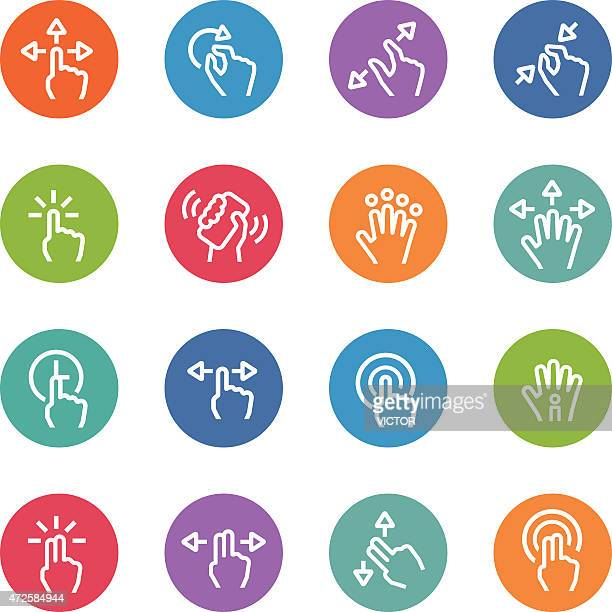 Touch Gesture Icons - Circle Line Series