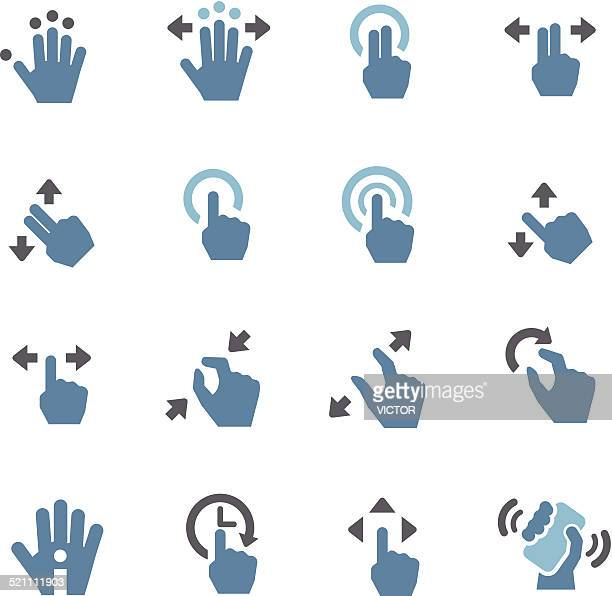 Touch Gesture Icons - Conc Series