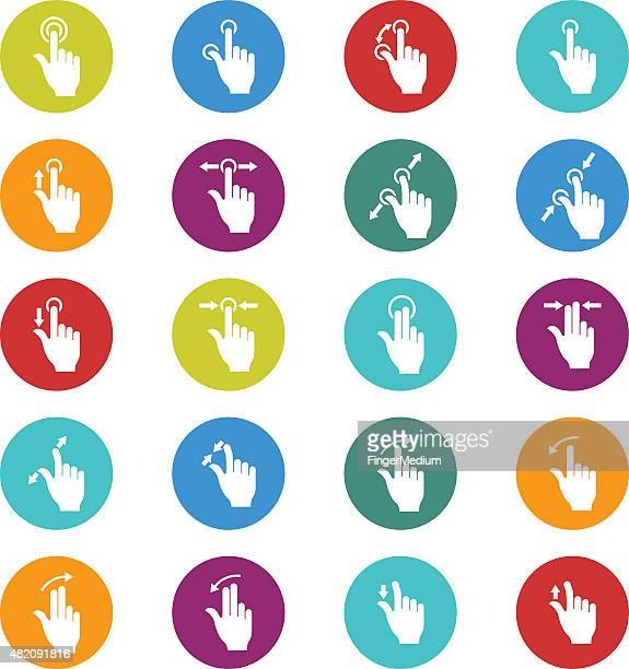 touch screen gesture collection - touch sensitive stock illustrations