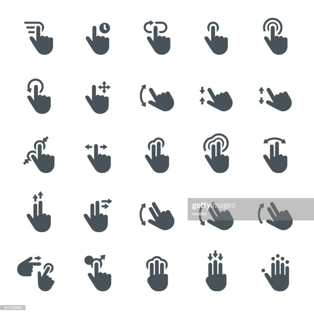 Touch screen gesture icons : stock illustration