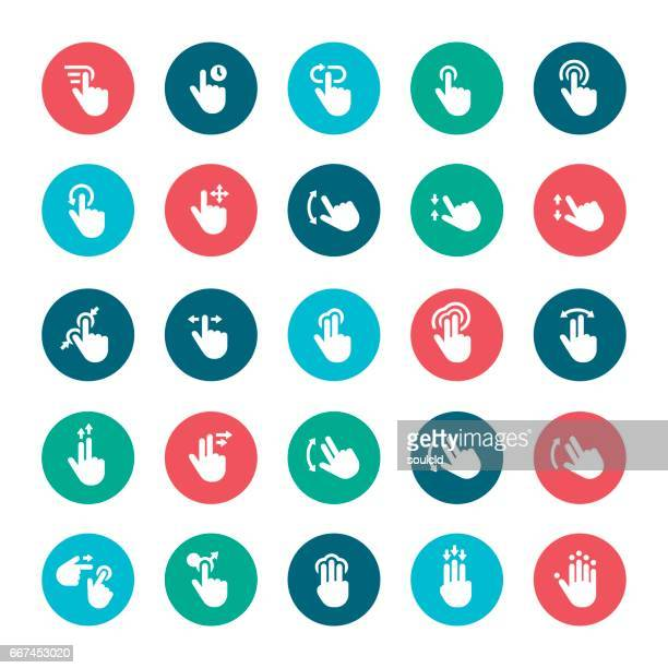 Touch screen gesture icons