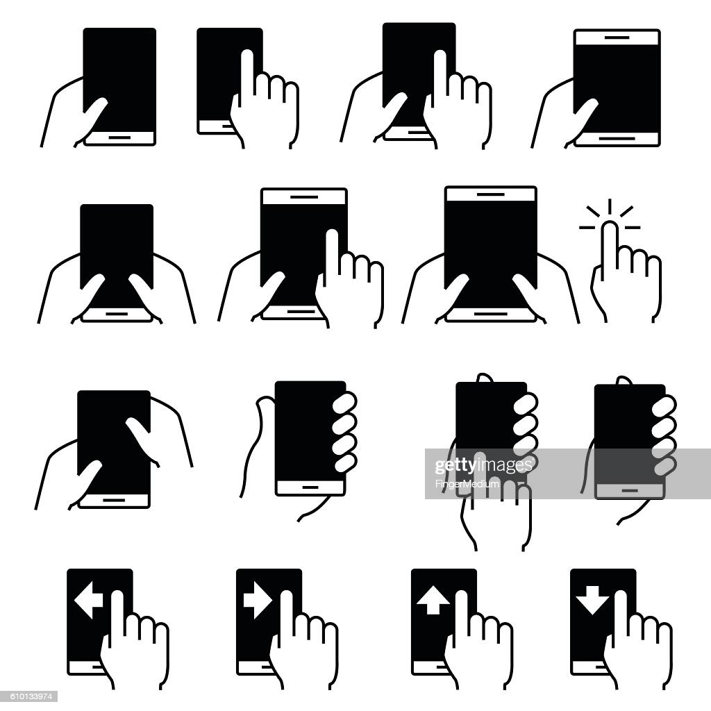 Touch screen icon set