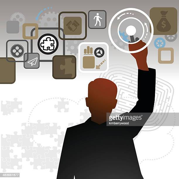 touching business - access control stock illustrations, clip art, cartoons, & icons