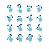 Touchpad Gestures Icon Set