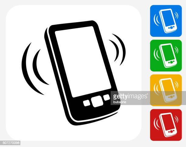 Touchscreen Phone Icon Flat Graphic Design