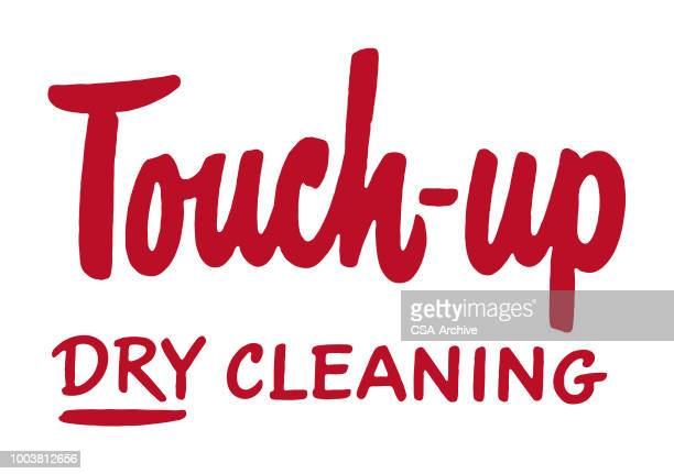 touch-up dry cleaning - dry cleaner stock illustrations