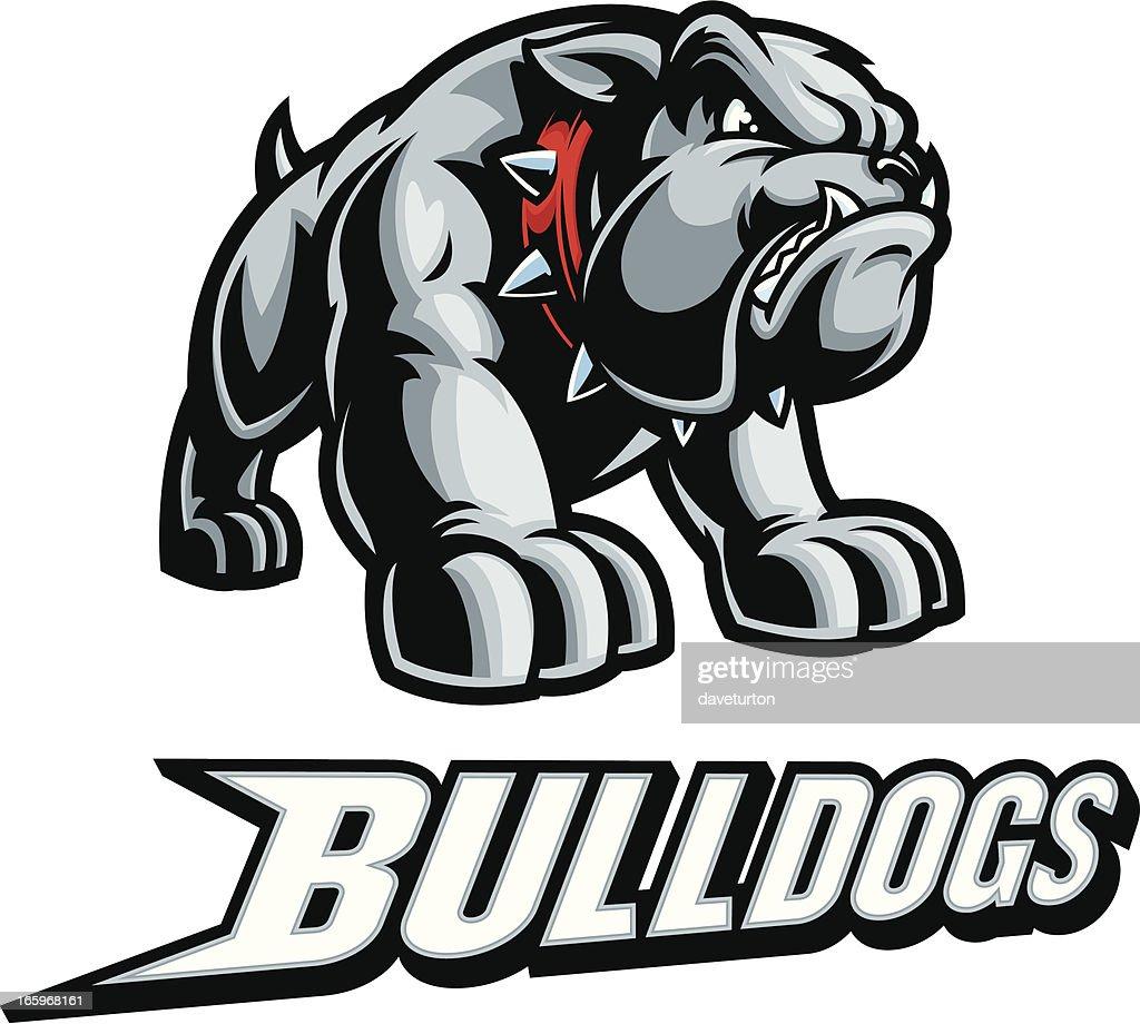 Tough Bulldog Mascot