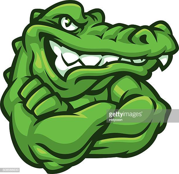 tough gator - alligator stock illustrations, clip art, cartoons, & icons