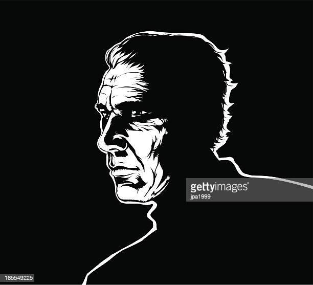 tough guy - film noir style stock illustrations
