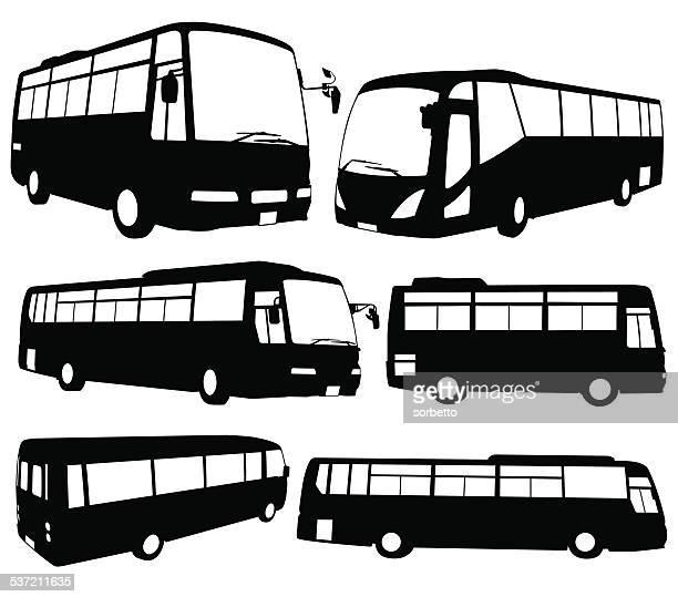 tour bus - bus stock illustrations