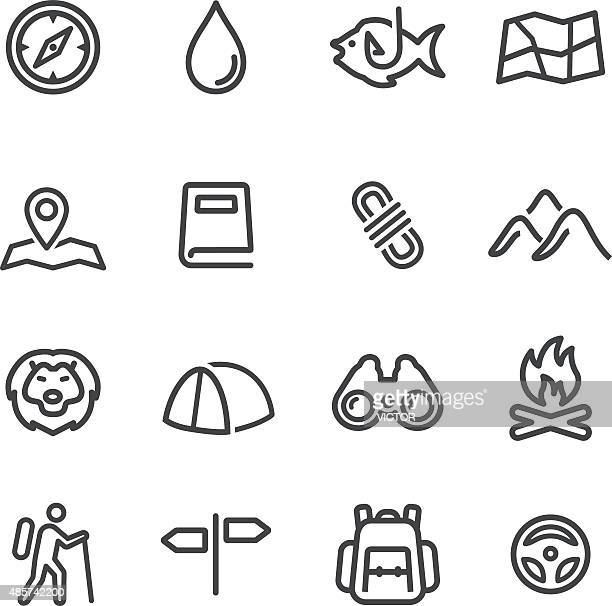 Tourism and Camping Icons - Line Series