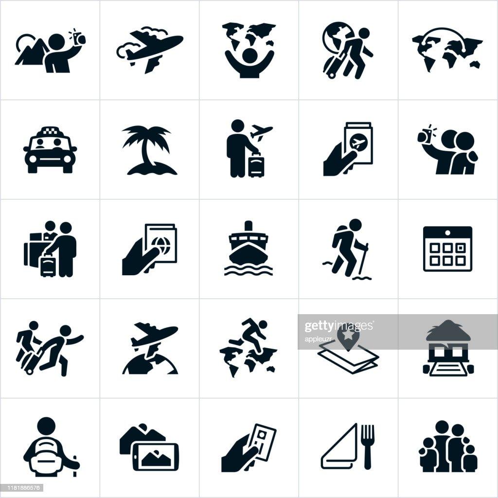 Tourism Icons : stock illustration