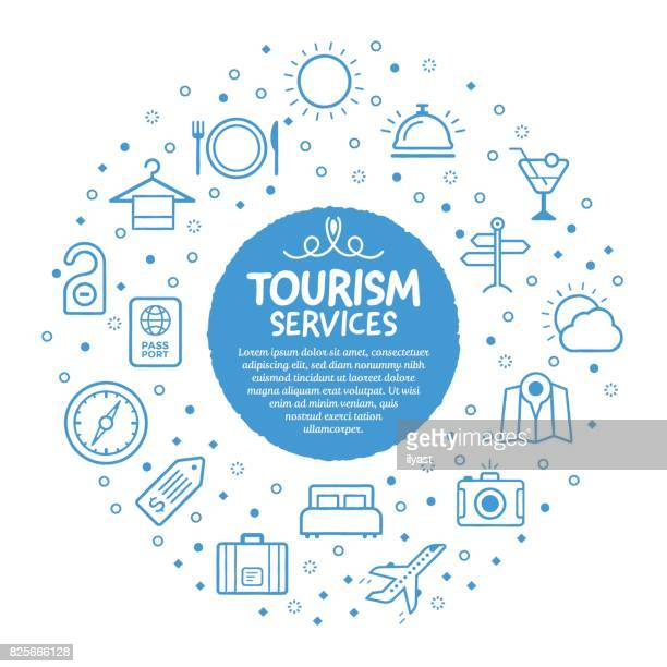 tourism service poster - hotel reception stock illustrations, clip art, cartoons, & icons
