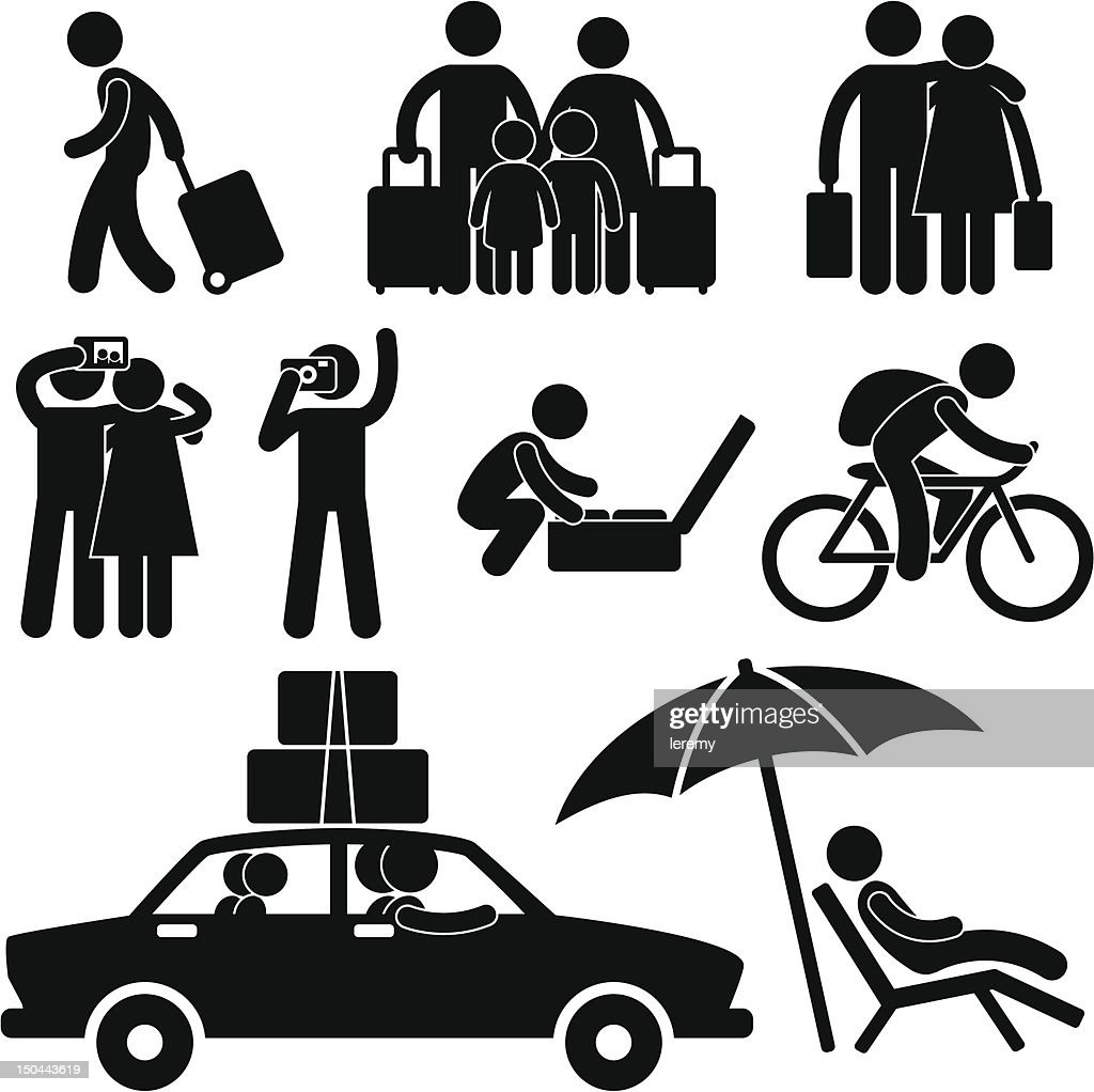 Tourist and Vacation Trip Pictogram