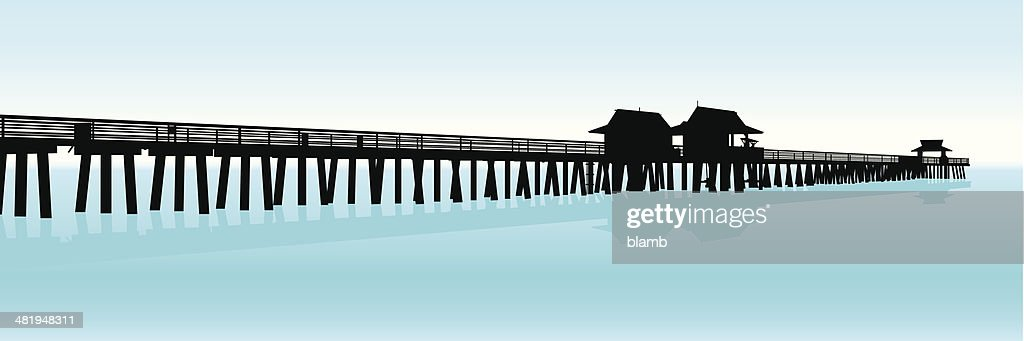 Tourist Pier Silhouette