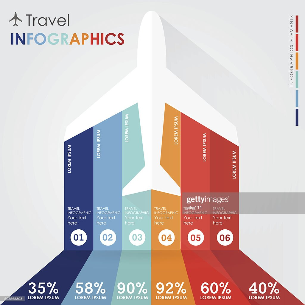 tourists travel infographics
