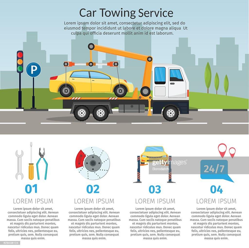 Tow truck city road assistance service evacuator Online car help